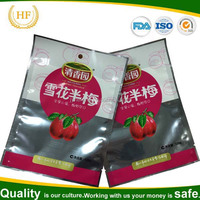 custom printed heat seal food packaging bags for dry fruit