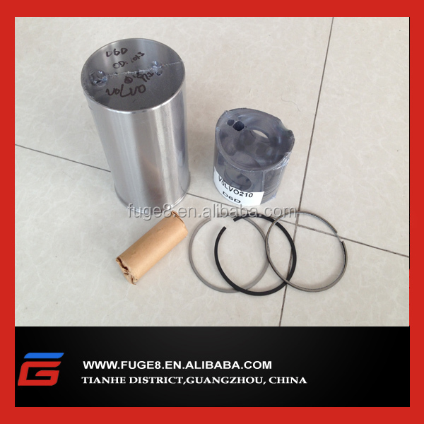 piston kit for Volvo excavator EC210 engine D6D spare parts