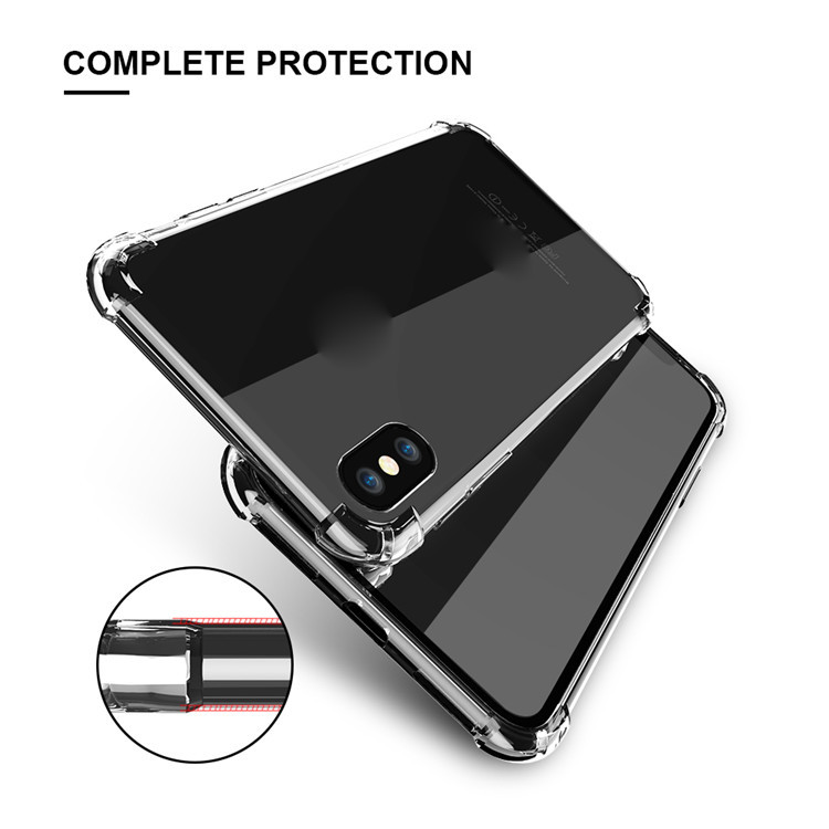 For iphone x case , free sample shockproof soft TPU phone case for iphone x case