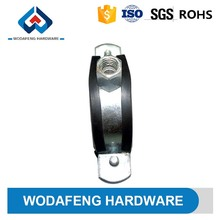 stainless steel strong resistance 3/4 pipe clamp types with rubber price