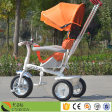 Russian hot sale bike with parent handle / baby tricycle with handle