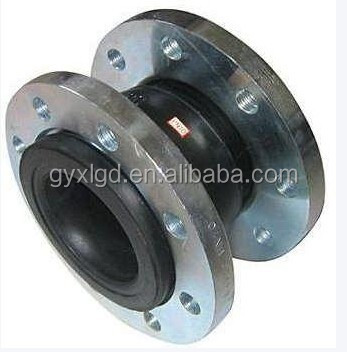 Single Ball Rubber Joint for Plumbing with Metal Flange