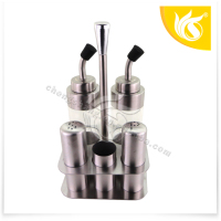 stainless steel salt and pepper set with Spice Bottle Oil Bottle
