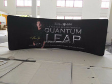 20ft Curve Exhibition Tension Fabric Display Stand,New Design Pop Up Tension Fabric Display