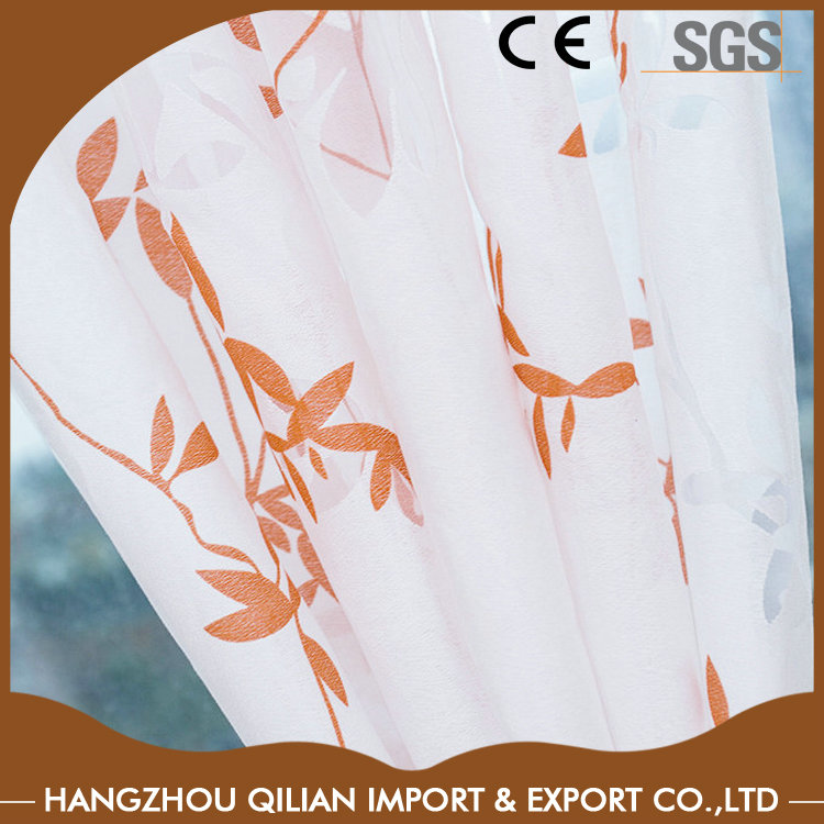 Printed flower pattern pure silk fabric for home windows