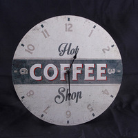 New Design Home Decoration 24 hour MDF Digital Antique Promotional Wall Clock