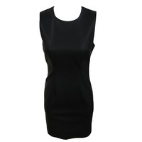 New fashion black O-neck ladies one piece dress