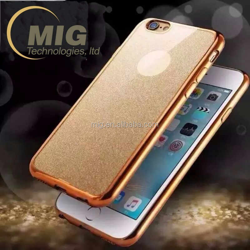 for Apple iphone 7 cover electroplating bumper and shining Glitter TPU Case Mobile phone case for iphone 7