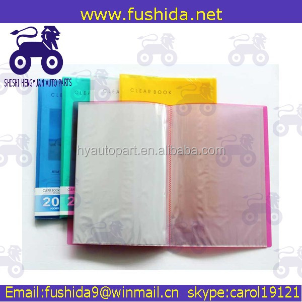 Factory price a4 size transparent display book file folder