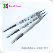 Transparent handle gel brushes with nail art dotting tool