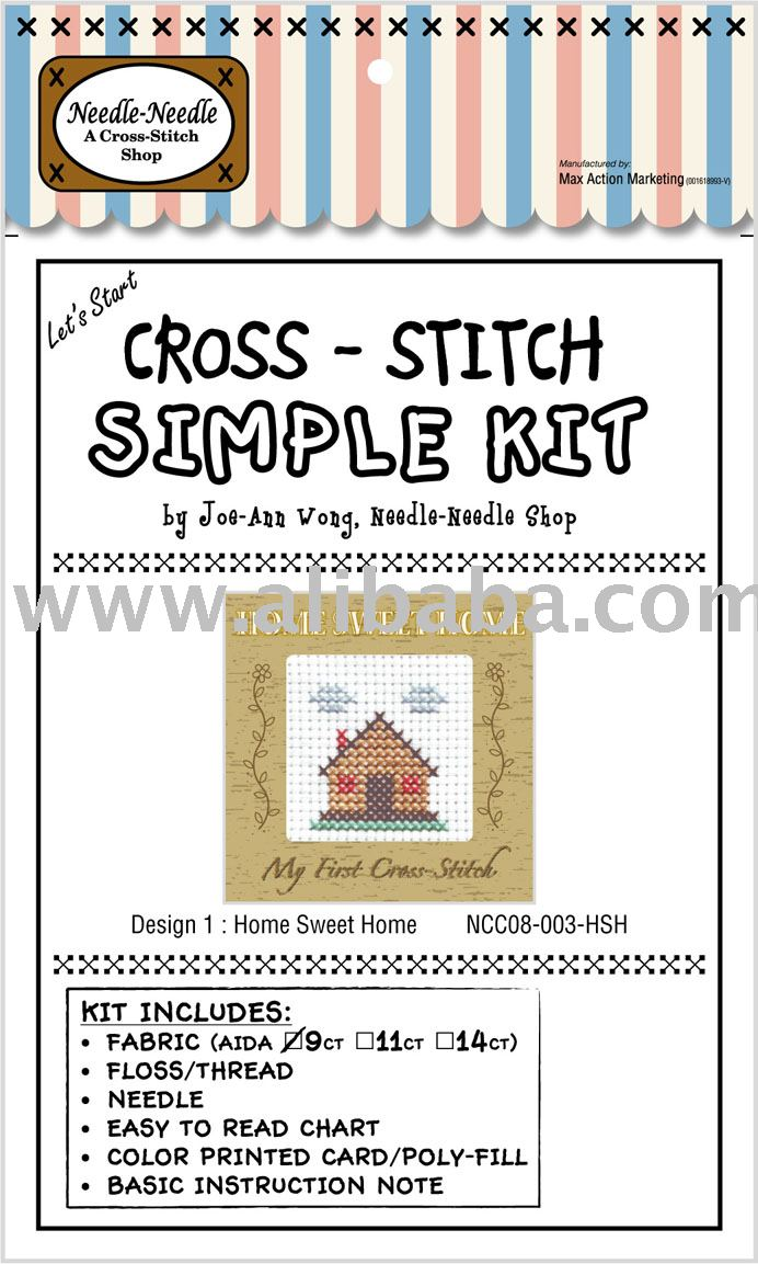 Cross-Stitch Kit - HOME SWEET HOME CARD