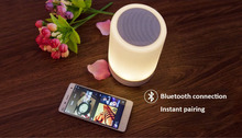 mini beats audio Wireless Bluetooth Speaker Hands-free Call Colorful led lamp 220v e27 for smart phone