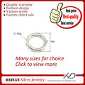 XD P05001 0.6x2.5mm 925 Sterling Silver Open Jump Rings Wholesale Jump Ring