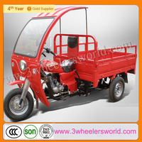 Chongqing Best Quality Engine Mini Flatbed 3 Wheel Glass Cabin Tricycle for Cargo