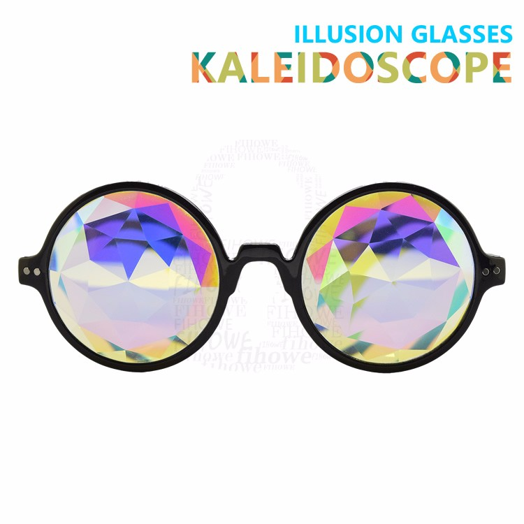 Hot Kaleidoscope Reflation Lens Double Color Frame True Colors Mirror Lens Sunglasses