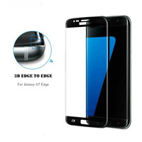 Factory price 3D full cover tempered glass screen guard for samsung galaxy s7 edge