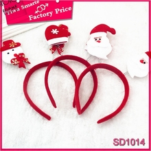 2016 best sell christmas hair accessories ,Funny Santa Claus children plastic tiara
