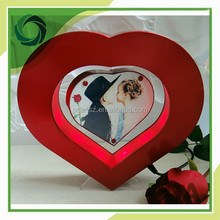 amazing product heart shape led mangetic photo album fram display stands