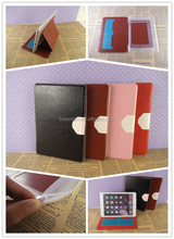 Wholesale stand functions TPU leather case with 2 hole card slots for ipad accessories