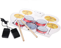 USB MIDI Roll up Drum Kit Play with Game Software to Practice Music