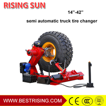Heavy tire changer truck tire remover