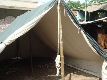 Tent Shouldaries, Military Tents