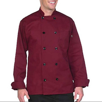 Newest western food wine red chef's uniform