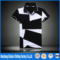 summer High quality Squares Mixed colors polo shirt men casual slim Polka Dot polo shirts plus large size