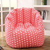 visi new design pink with white dots pumpkin bean bag armchair recliner/seat puff