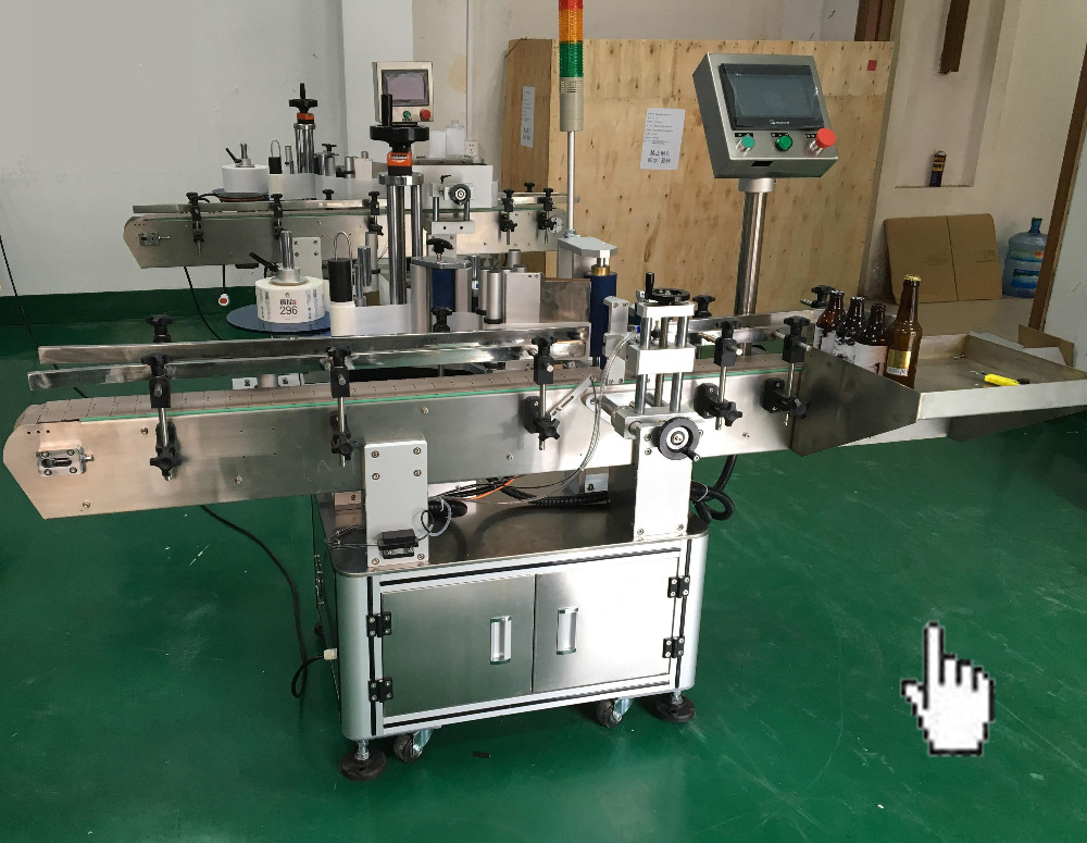 automatic adhesive labeling applicator for cup