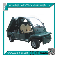 electric pickup truck with rear hydraulic lifting cargo box