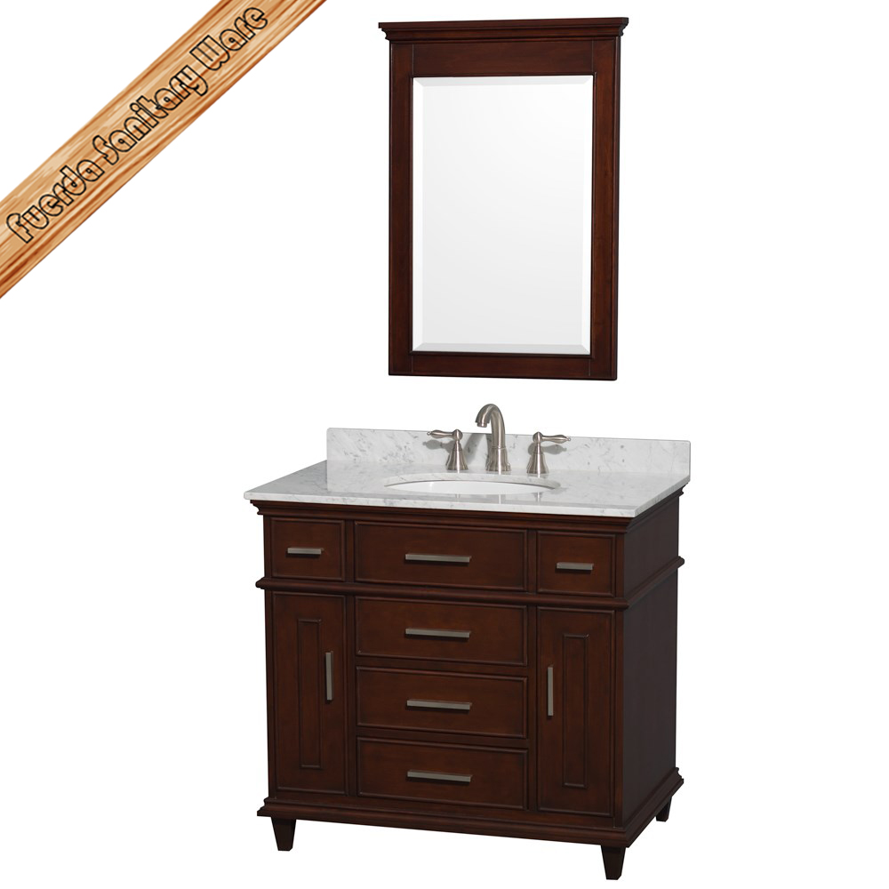 hot selling stain finish corner cabinet for bathroom