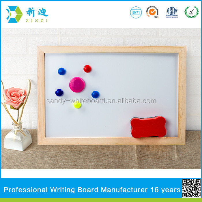 Lanxi xindi kids small magnetic stand whiteboard with wooden frame
