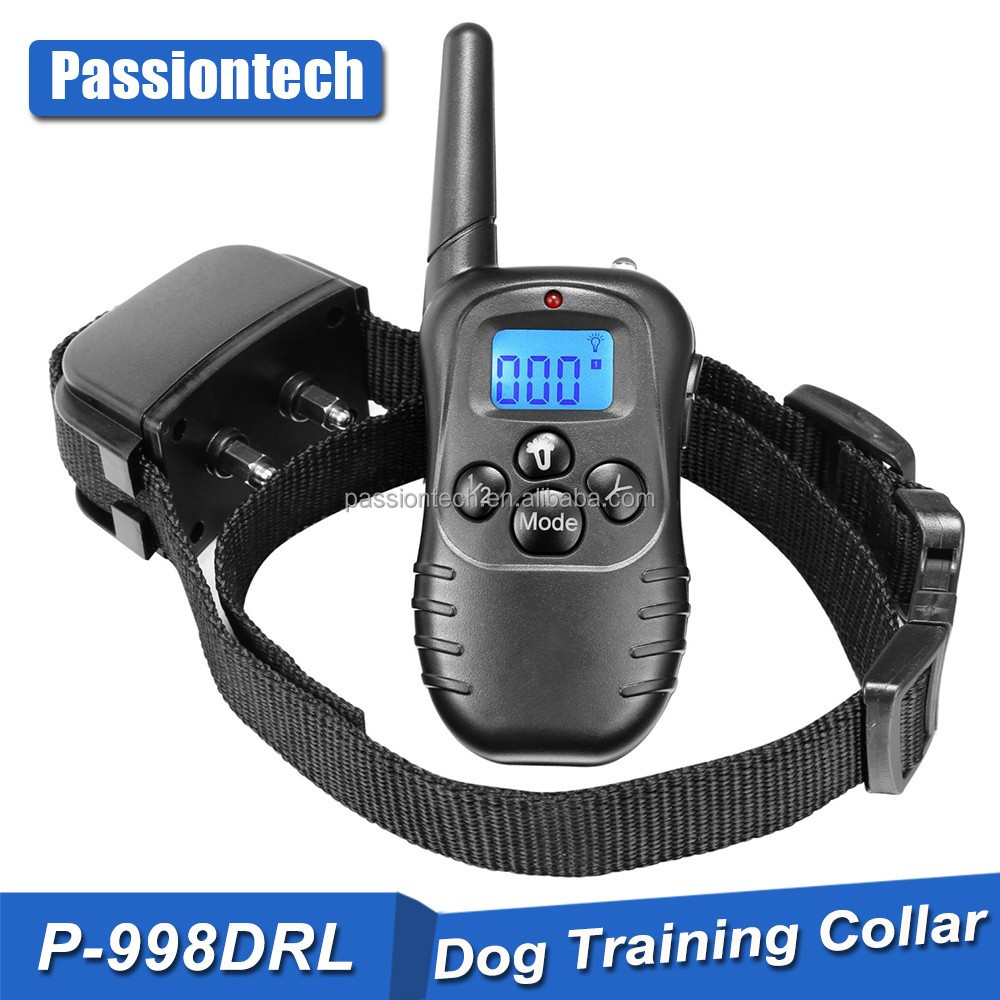 2017 Remote LCD 100LV 300M Electric Shock & Vibrate Pet Dog Training Collar P-998DRL Waterproof