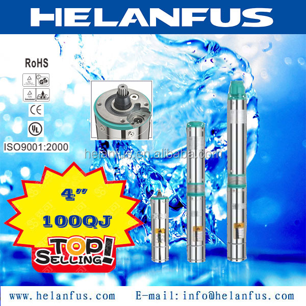 "4""100QJ stainless steel showfou submersible pumps"