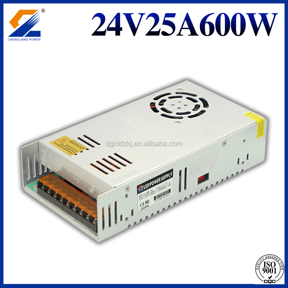 AC DC 24V 25A 600W LED Switching power supply with Single Output