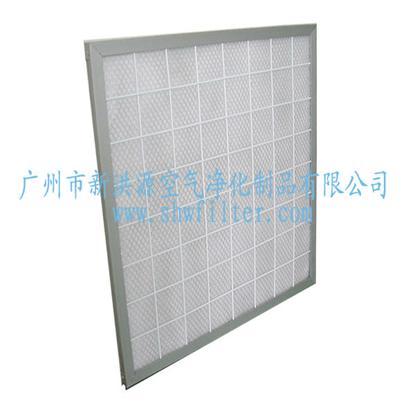 Aluminum Frame flatbed Panel Filter for pre-filration