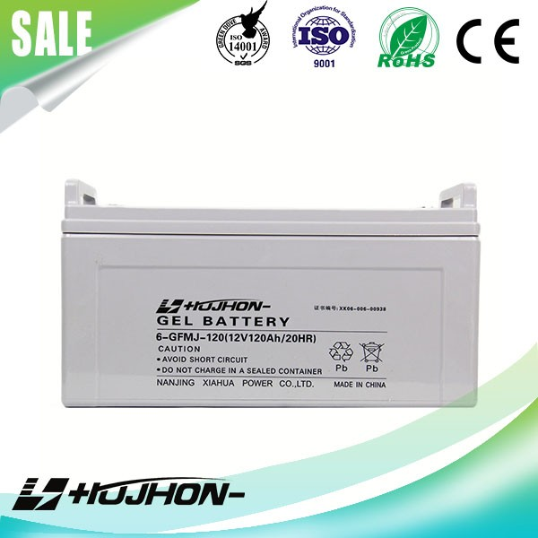 long deep cycle high qulity GEL 12v 120ah solar battery