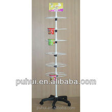 new design floor snacks display stand from china facotry