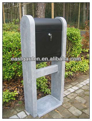 Chinese Blue limestone out door mail box