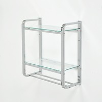 2 Tier Bathroom Rectangle Glass Shelf