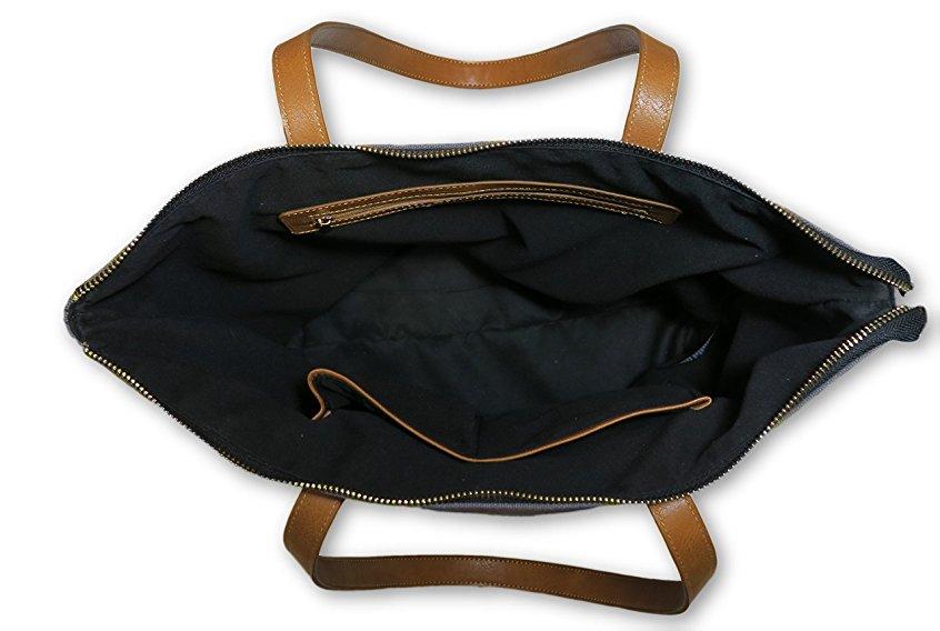 600d polyester toile fourre-tout sac noir toile fourre-tout sac