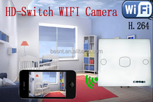 home security system, wireless mini wifi hidden camera, wall switch hidden camera BS-W01A