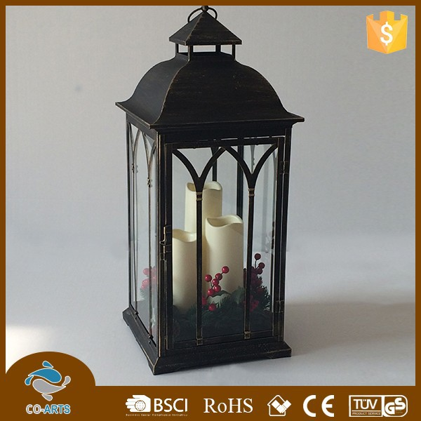 Classic metal decorative lanterns for candles