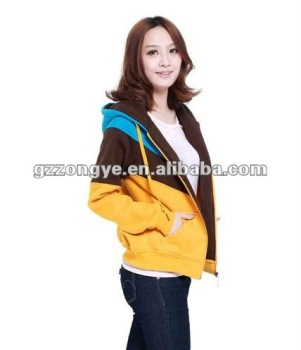 Casual sweat suit three color blocking