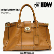 SS HOW genuine Lamb Leather Executive Tote bags