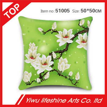 fresh style magnolia DIY cushion cover 50*50cm high quality