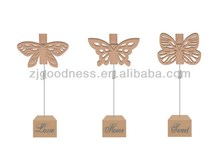 2014 New Design Animal Shape Wooden Base Memo Clips