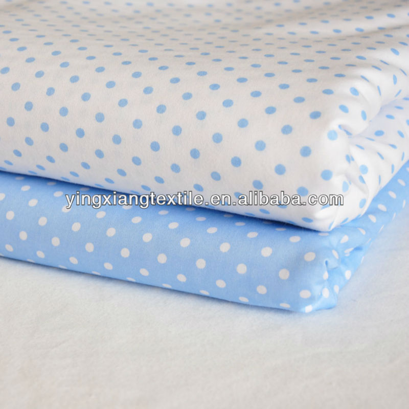 2013 new design dyed/printed cotton sheeting fabric with spots