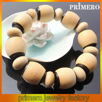 PRIMERO fashion wholesale jewelry antique Europe america popular bamboo bead hand made bracelet Polished bamboo bead bracelets